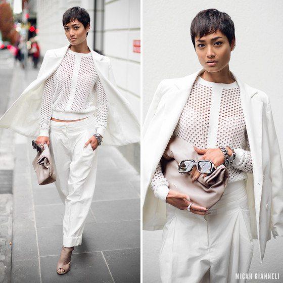all white look nude how to style