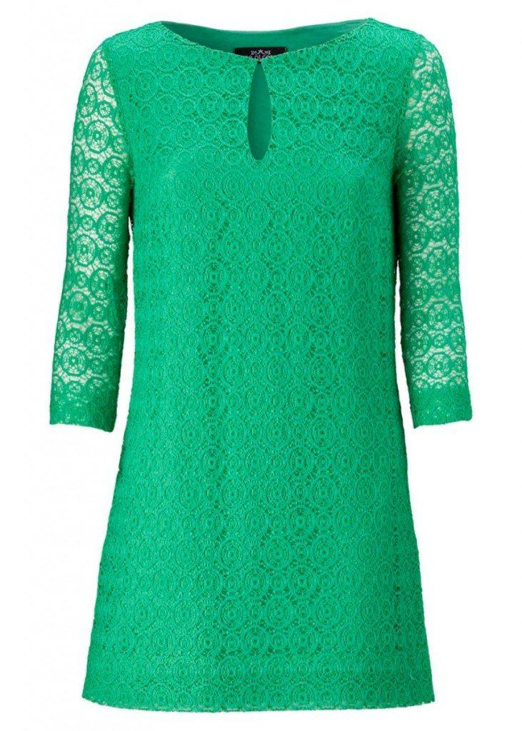 kleid grün victoria beckham