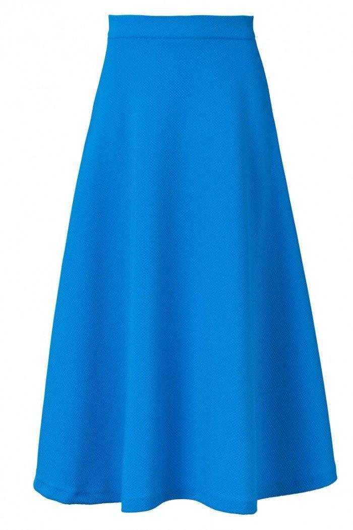 pastell blau midirock