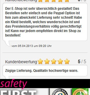 ana alcazar trusted shop Gütesiegel
