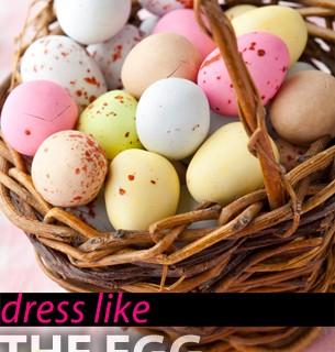 dress like the egg Pastelltöne