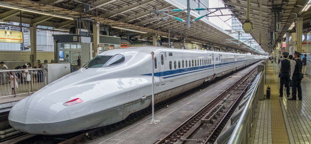 Shinkansen im Hauptbahnhof Tokio