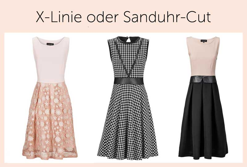 Kleid a linie tiefe taille