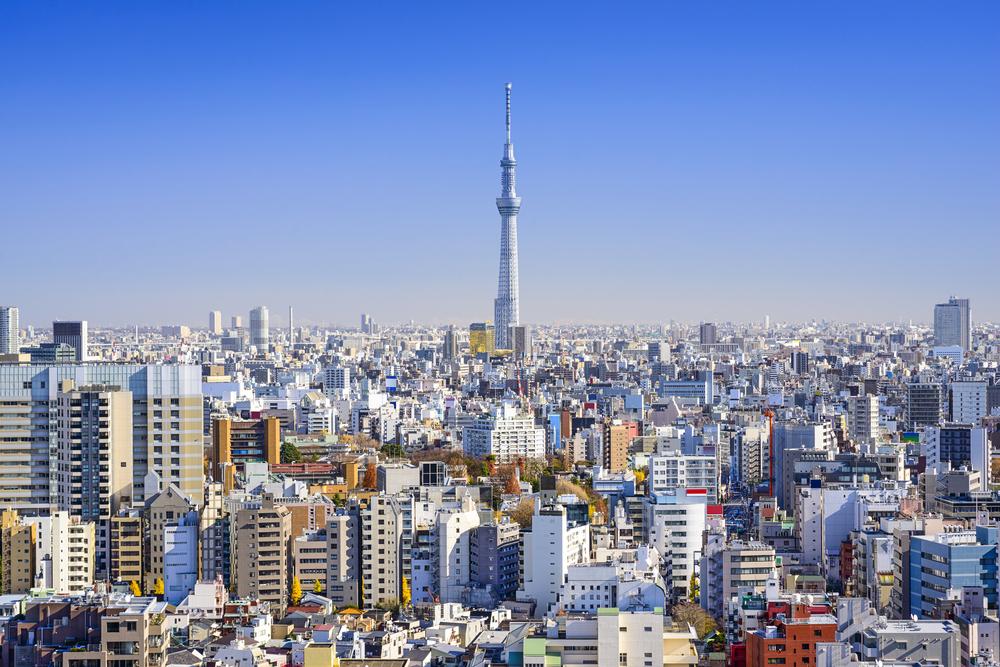 Blick auf den Tokio Sky Tree