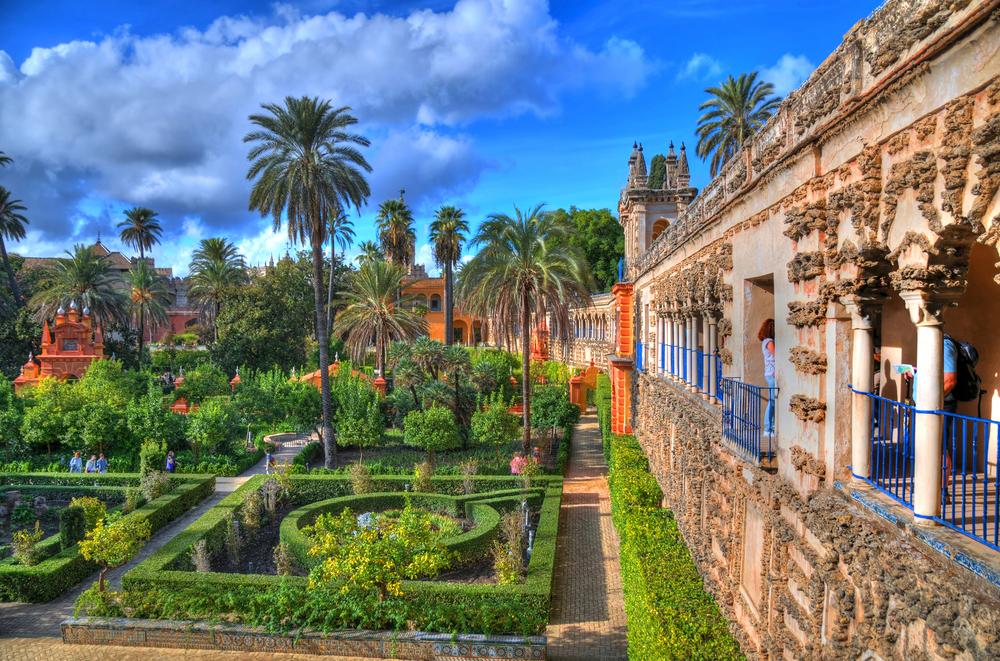 Real Alcazar Sevilla Garten