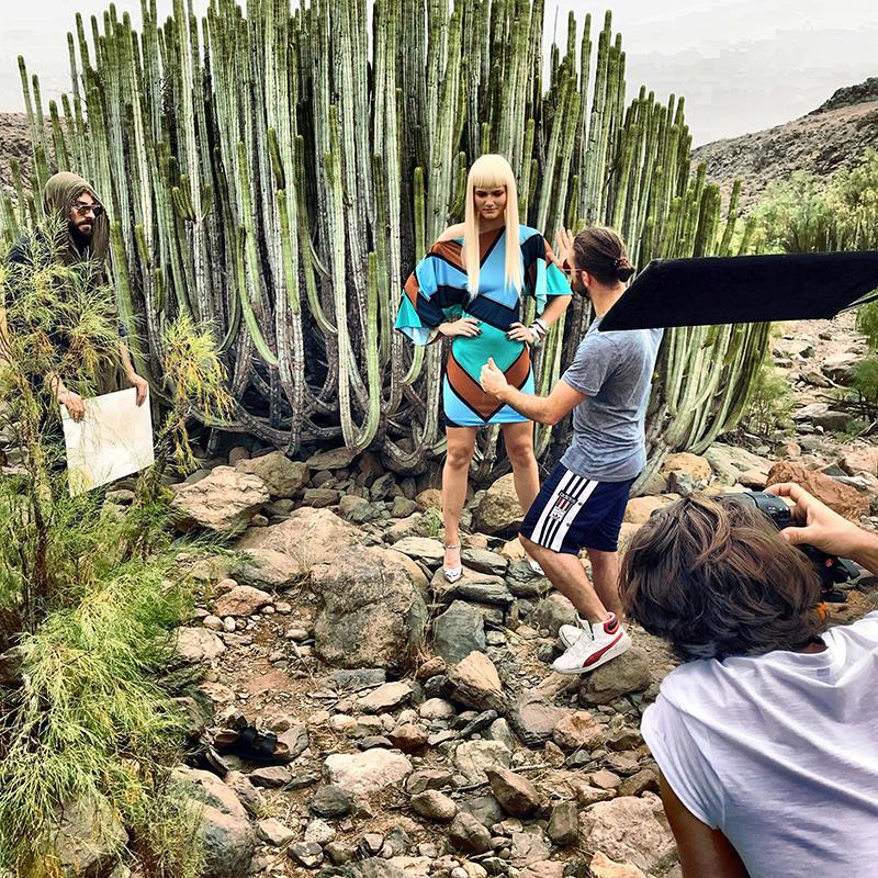 Kampagne Shooting Ana Alcazar hinter den Kulissen