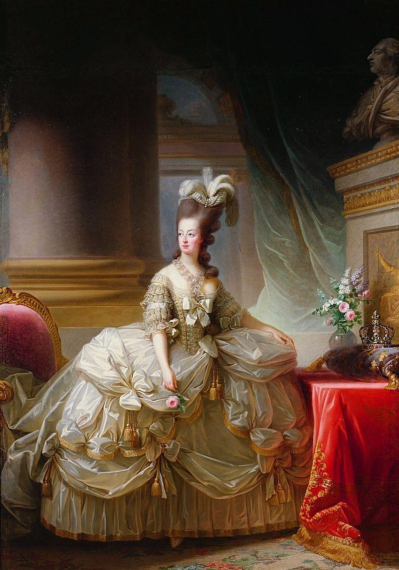 Portrait von Marie Antoinette 1778 im ausladenden Reifrock