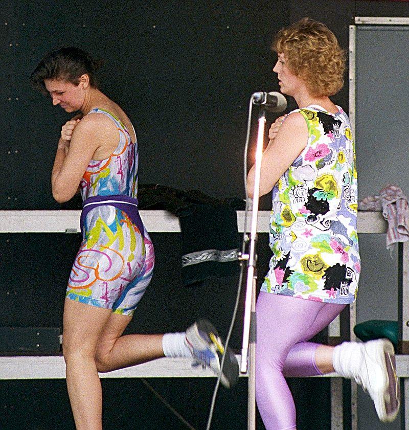 Frauen in Radlerhosen 80er Jahre