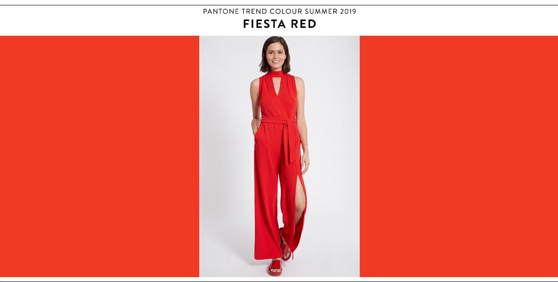 Pantone Farbtrend Sommer 2019 Fiesta Red bei Ana Alcazar