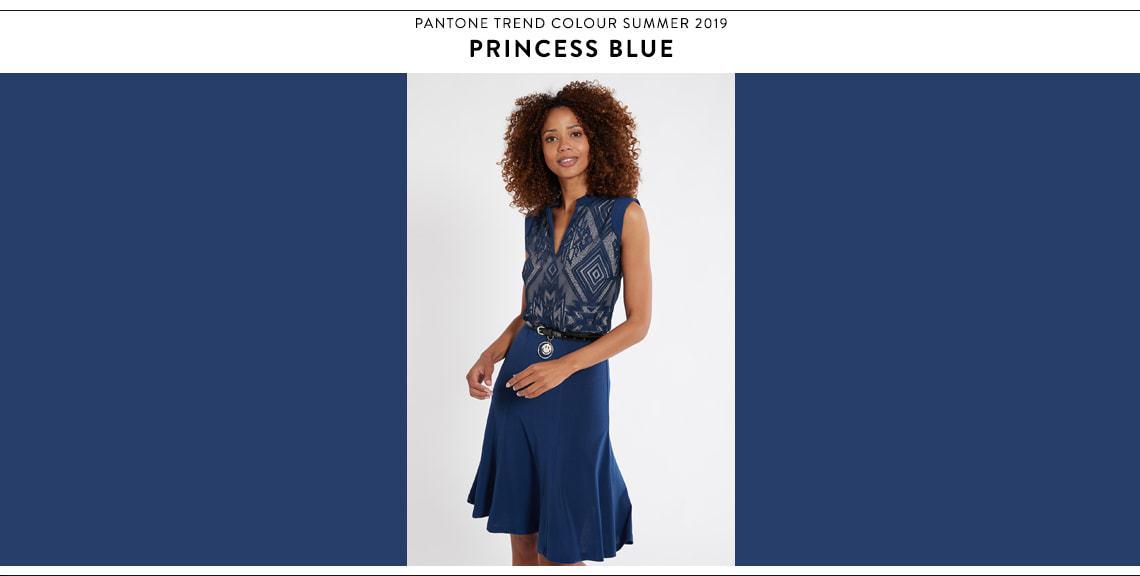 Pantone Farbtrend Sommer 2019 Princess Blue bei Ana Alcazar