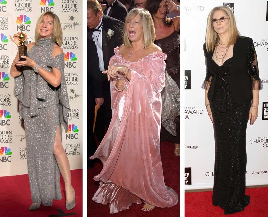 3 modische Looks von Barbra Streisand