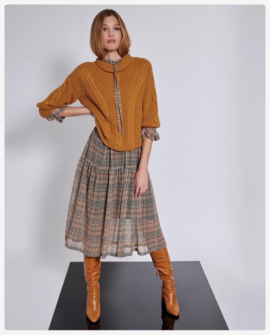 Herbstmode 2021: Oversize Pullover & Karokleider