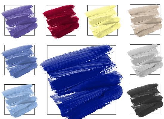 Farbpalette Blau