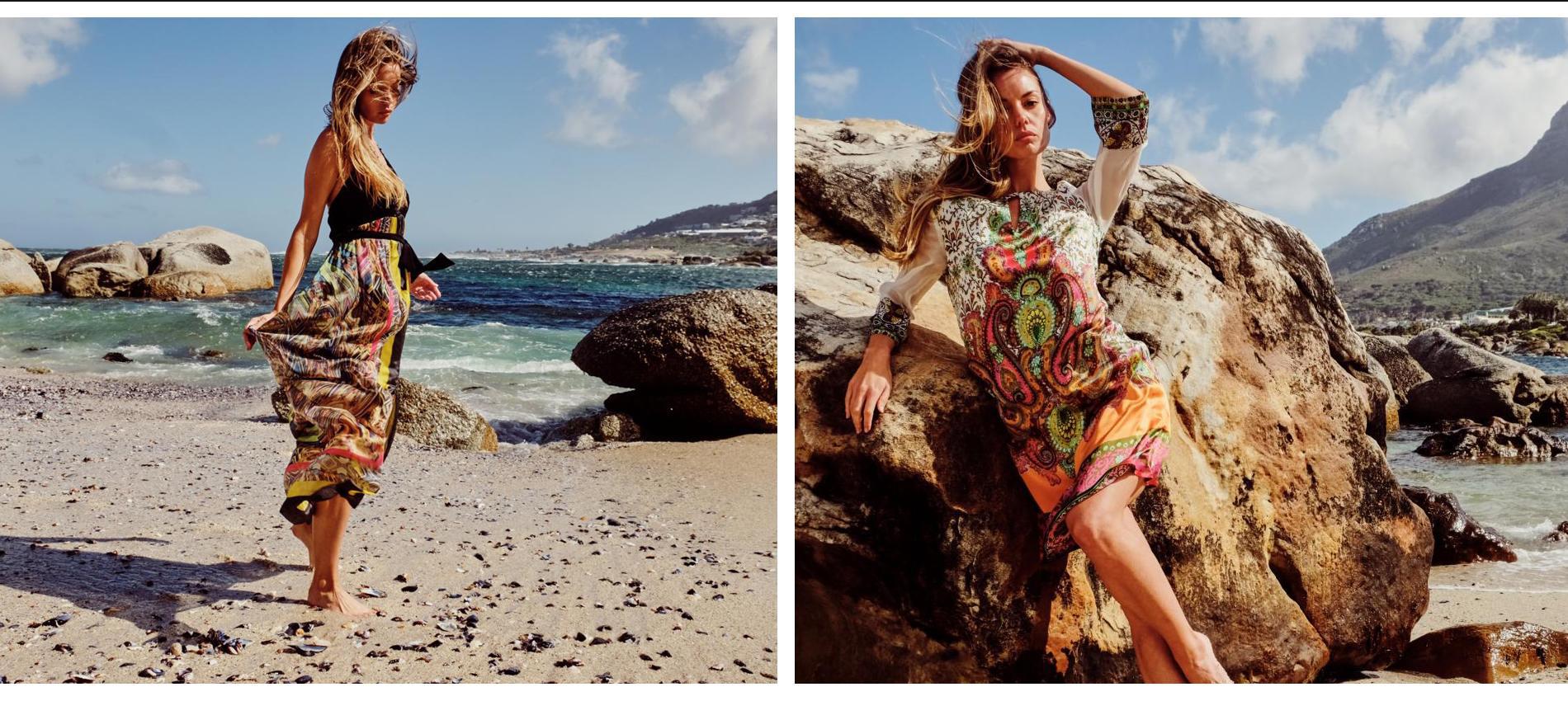Zweier-Ansicht Seidenkleider bei Ana Alcazar