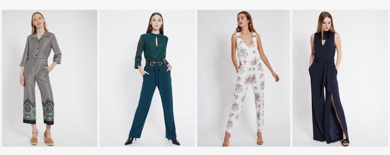 Different types of jumpsuits and overalls