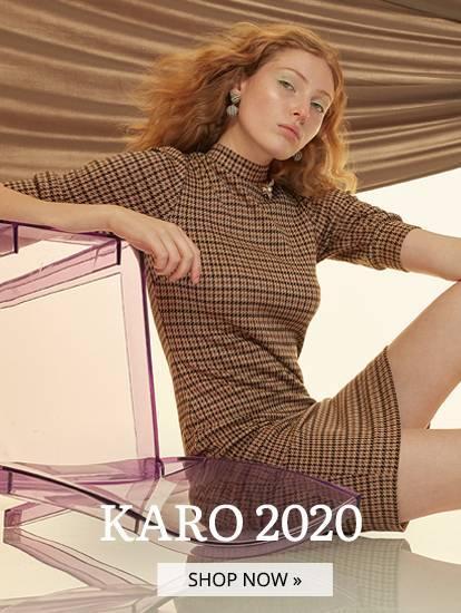 Model trägt Karokleid Behly