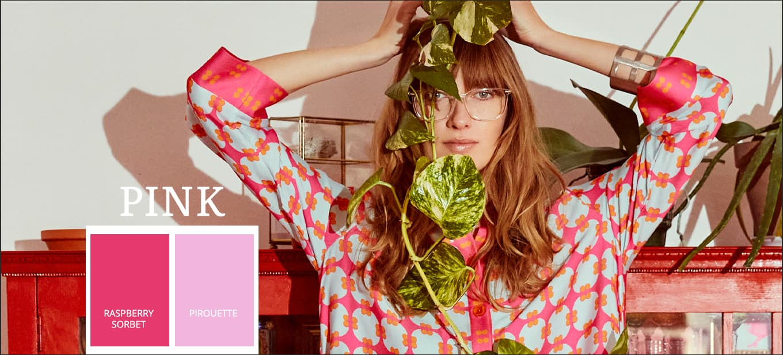 Modetrends in Pantone zomerkleur 2021 roze, Raspberry Sorbet, Pirouette