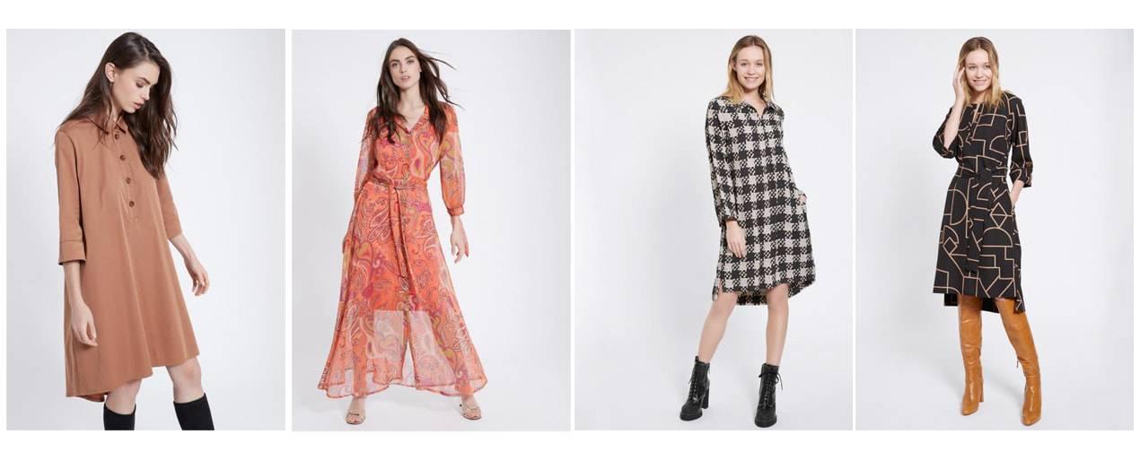 Verschiedene Varianten von Blusenkleidern