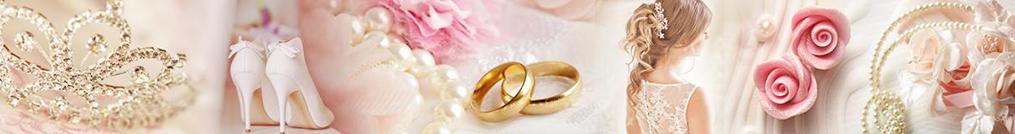 Hochzeitscollage mit Accessoires und Frisuren