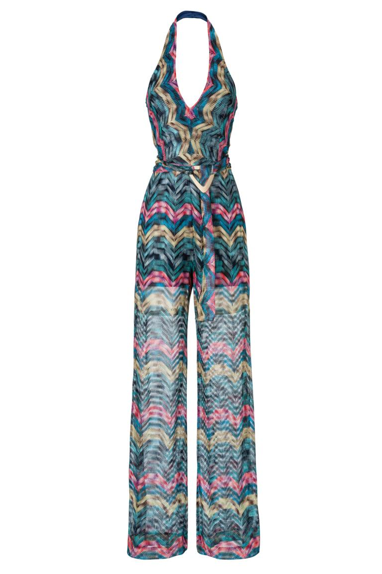 jumpsuit ationea in knitted waves look ana alcazar