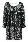 Ana Alcazar Glam Sequin Dress Rhetys Black