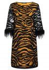 Ana Alcazar Tunic Dress Zapos Black-Brown
