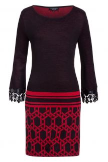 Ana Alcazar Tunic Dress Kileysa Red