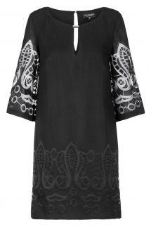 Ana Alcazar Tunic Dress Black Feya