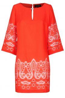 Ana Alcazar Tunic Dress Red-White Feya