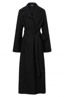 Ana Alcazar Long Coat Vabana Black