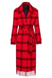 Ana Alcazar Coat Vabara Red