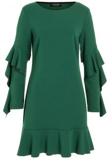 Ana Alcazar Volantsleeve Dress Romya Green