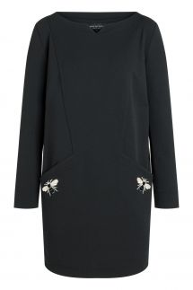 Ana Alcazar Round Neck Dress Roamy Black