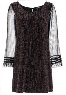 Ana Alcazar Glitter Pleats Dress Rafys