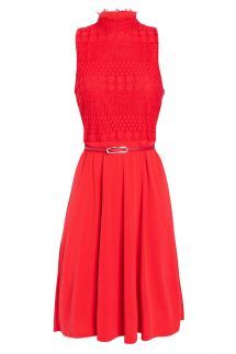 Ana Alcazar Mix Dress Sanobea Red