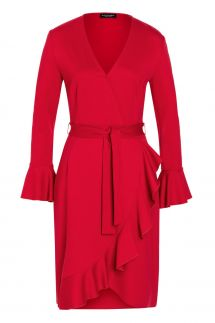 Ana Alcazar Wrap Dress Vafabo Red