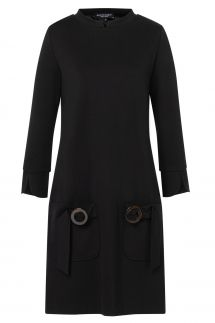 Ana Alcazar Sixties Dress Vafante Black