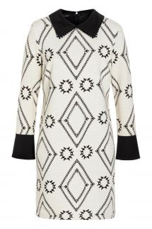 Ana Alcazar Collar Dress Vafonte White