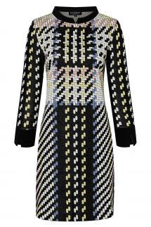 Ana Alcazar Sixties Dress Velmoroy Black
