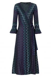 Ana Alcazar Wrap Dress Vulboa Blue