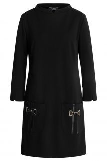 Ana Alcazar Pocket Dress Wagosa Black