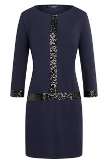 Ana Alcazar Sequin Dress Wajani Blue