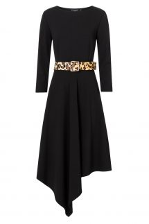 Ana Alcazar Midi Dress Walola Black