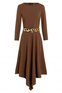 Ana Alcazar Midi Dress Walore Brown