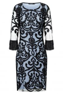Ana Alcazar Fringe Dress Warana Blue