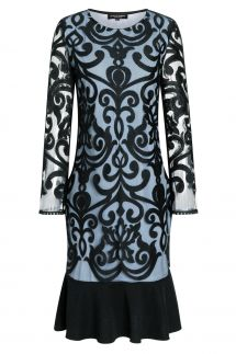 Ana Alcazar Volant Dress Warisa Blue
