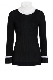 Ana Alcazar Turtleneck Shirt Picaba Black
