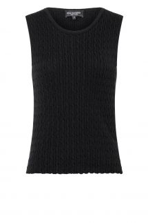 Ana Alcazar Knit Top Zylla Black