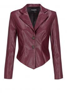 Ana Alcazar Leather Optic Jacket Doraly