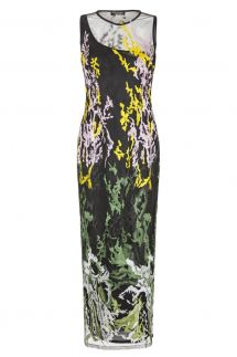 Ana Alcazar Black Label Embroidered Maxi Dress